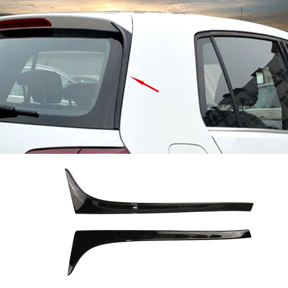 MK7 Car-styling Carbon Fiber / ABS Gloss Black Rear Wing Side Spoiler Lip for Volkswagen Golf 7 MK7 2014-2017 Not GTI R