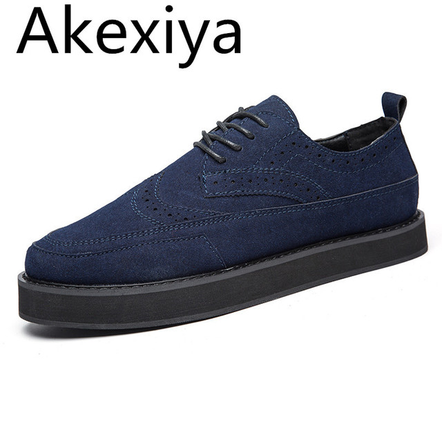 Akexiya Handmade Mens Creepers Shoes Casual Luxury Brand Designer Brogue  Shoes Men High Quality Original Espadrilles