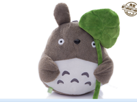 new plush Totoro toy classic expression totoro doll with Lotus leaf doll gift about 40cm