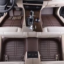 цена на automotive foot mats car floor rugs set pad pu leather waterproof black for Cadillac CTS CT6 SRX DeVille Escalade SLS ATS-L/XTS