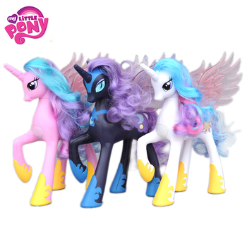 Новый 22 см My Little Pony Friendship is Magic Princess Celestia Cadance Luna фигурку куклы Рождественский подарок игрушка для девочек >> Time Machine Co.,Ltd