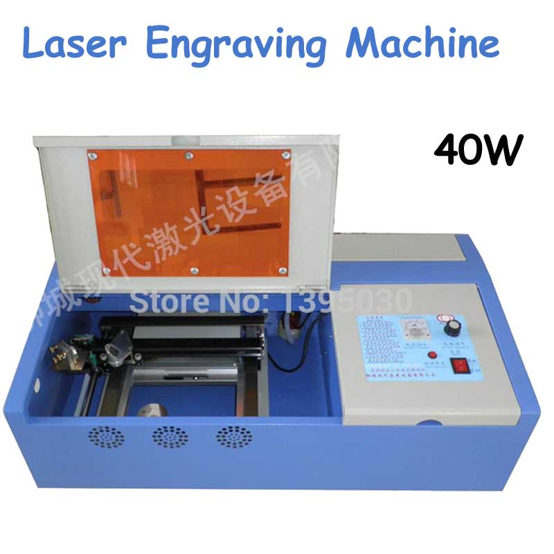 Hot Sale CO2 40W Laser Engraving Cutting Machine Engraver with go up and down function hot sale effective laser glass engraving