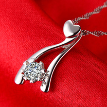 0 21ct GIA Certified Natural Diamond 18K White Gold Pendant Necklace for Women Handmade Wedding Engagement