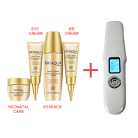 LCD Mini Ultrasonic Cleaning Face Face Massager Ion Skin Scrubber Peeling Facial Cleaner Massager Free Gift