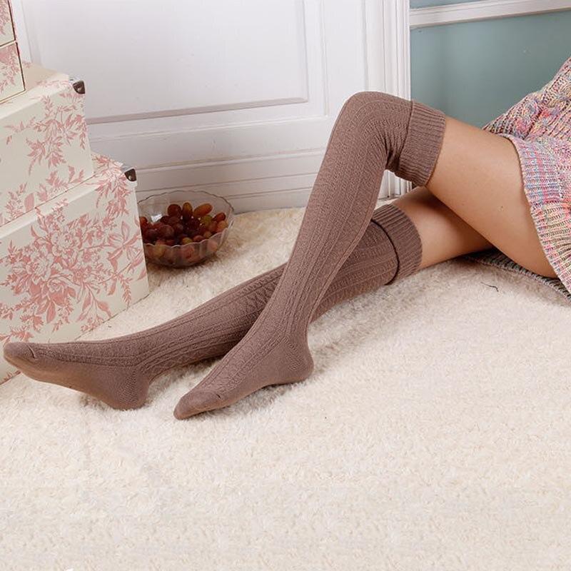 модные женские ботинки выше колена ноги теплые мягкие женские зимние ботинки зимние СУ роковой туфли-botas mujer свободного cortas Ф2