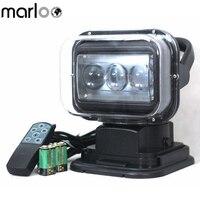 Marloo Дистанционное Управление светодиодный поиск свет 60 Вт работы лампы аварийного строительство огни для лодка Off внедорожник Кемпинг Сад