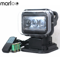 Marloo Remote Control LED Search Light 60W Working Lamp Emergency Construction Lights for Boat Off road Car SUV Camping Garden