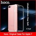 Accesorios del teléfono móvil case para iphone 7 case 4.7 pulgadas ultrafino suave ptu líquido claro invisible cubierta para apple iphone 7