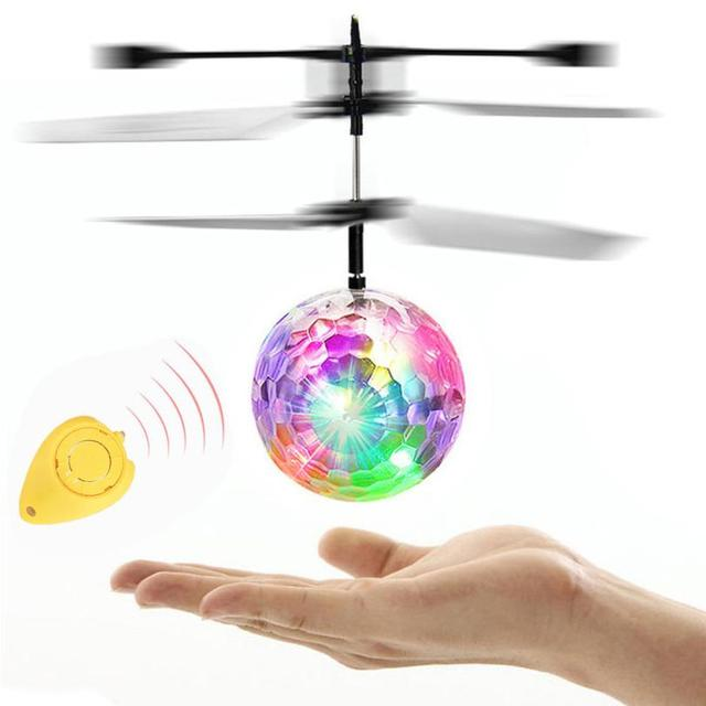 Flying RC Electric Ball LED Flashing Light Aircraft Helicopter Induction Toy Dropship Y721