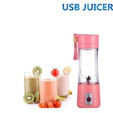 380ml Electric Juicer Cup Mini Portable USB Rechargeable Blender Maker Shaker Squeezers Fruit Orange Juice Extractor
