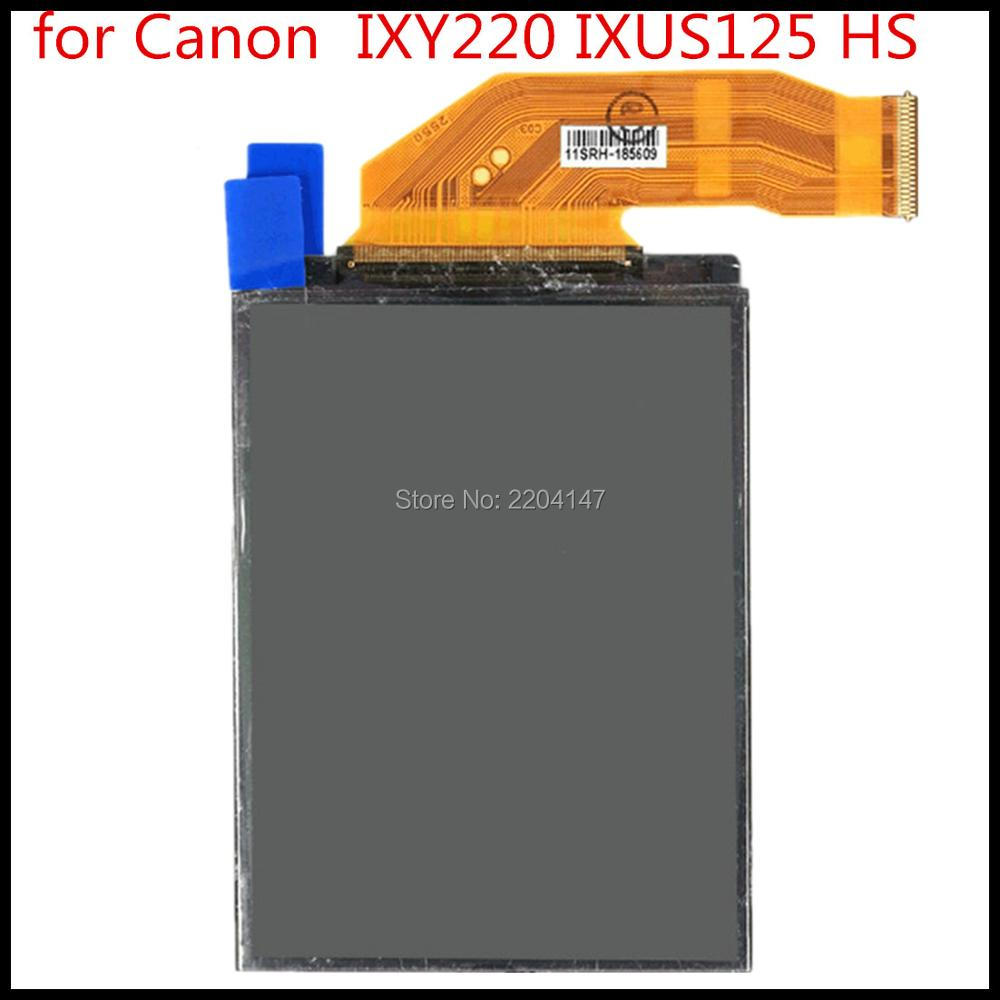 FREE SHIPPING! NEW LCD Display Screen For CANON IXUS230 IXUS125 IXY600F IXUS255 IXY610F Of Camera Without Backlight
