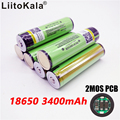 Liitokala 100% original 18650 3400mAh battery 3.7 V lithium-ion Rechargebale PCB protected NCR18650B battery
