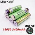 Liitokala 100% original de 18650 de 3400 mAh de 3,7 V de la batería de litio-ion recargable PCB protegida NCR18650B batería