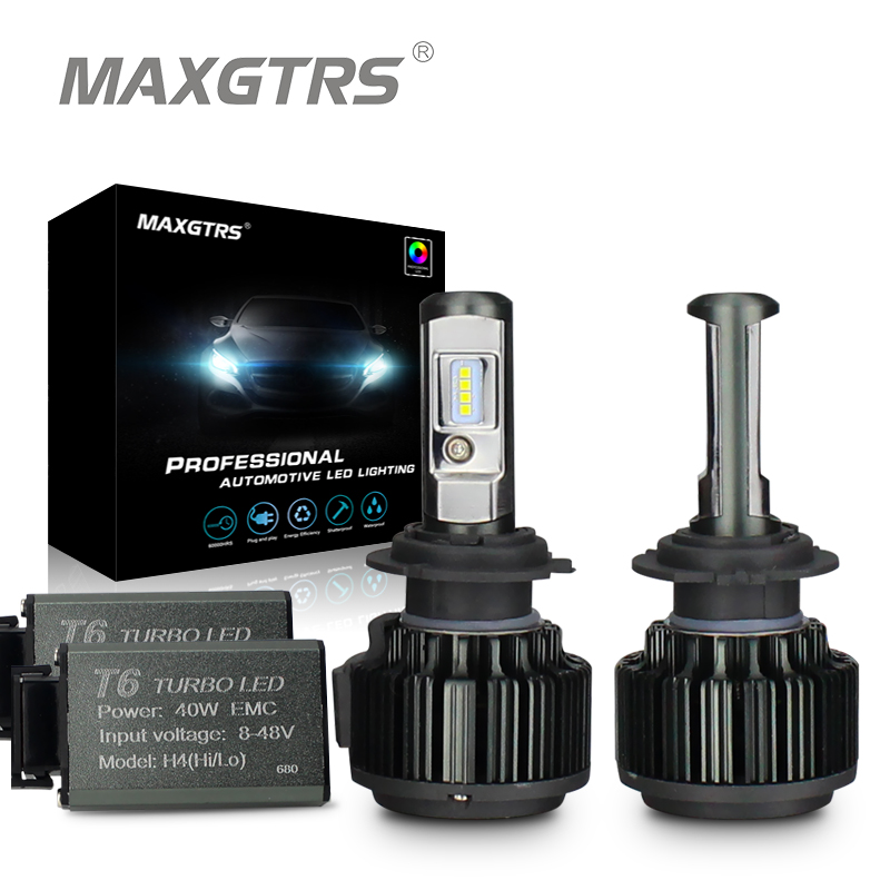 MAXGTRS H4 Hi/lo H7 H8 H11 9006 Car LED Headlights 9005 HB3 HB4 H1 H13 880 881 High Power Canbus White 6000K Bulbs Replace Lamp