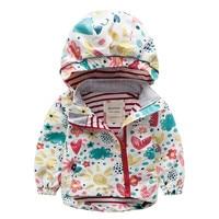 Meanbear Children Jackets 2018 Baby Girls Waterproof Windbreaker 2 8 Years Kids Flower Printed Jacket Spring