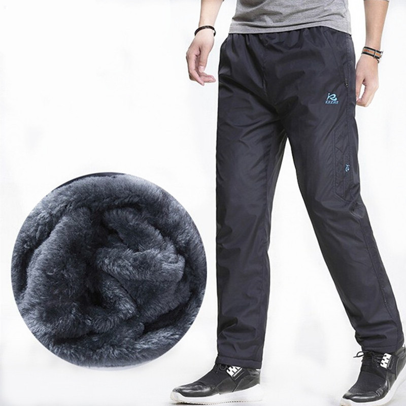 3XL Super Warm Winter Fleece Verdicken Herren Freizeithose Heavyweight Herrenhose Winter Wasserdicht Schmal geschnittene Jogginghose
