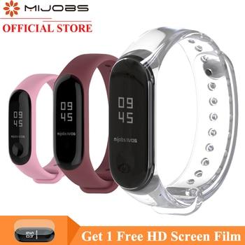 Mijobs Bracelet for Xiaomi Mi Band 4 Sport Strap Silicone Wrist Strap for Xiaomi Mi Band 4 3 Watch Accessories Miband 3 Strap