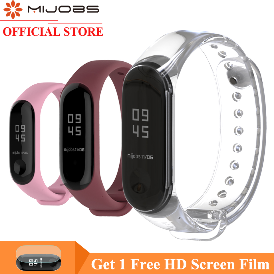 Mijobs Bracelet For Xiaomi Mi Band 4 Sport Strap Silicone Wrist Strap For Xiaomi Mi Band 4 3 Watch Accessories Miband 3 Strap