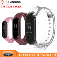 Mi banen armband Voor xiao Mi mi band 4 sport Strap siliconen Polsband Voor Xiao Mi mi Band 4 3 horloge Accessoires mi band 3 band(China)