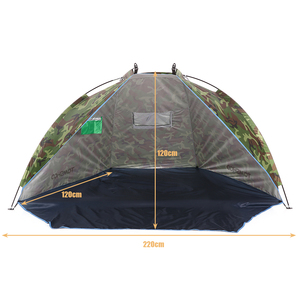 Image 3 - TOMSHOO Outdoor Beach Tent Sunshine Shelter 2 Person Sturdy  170T Polyester Sunshade Tent for Fishing Camping Hiking Picnic Park