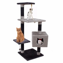 Domestic Delivery Pet Cat Toy Cat House Cat Kitten Training Scratching Tree Pet Jumping Rope Post Playing Cat Climbing