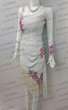 Latin dance dress,tango salsa samba dance dress, latin dance wear , cha-cha dance dress, ivory white