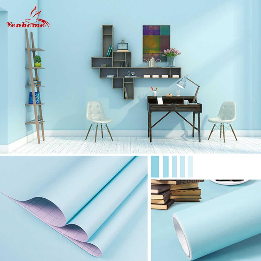 Papel tapiz impermeable de PVC de Color Mármol, 1 metro, autoadhesivo, pegatinas de pared para sala de estar moderna, película decorativa para cocina y habitación