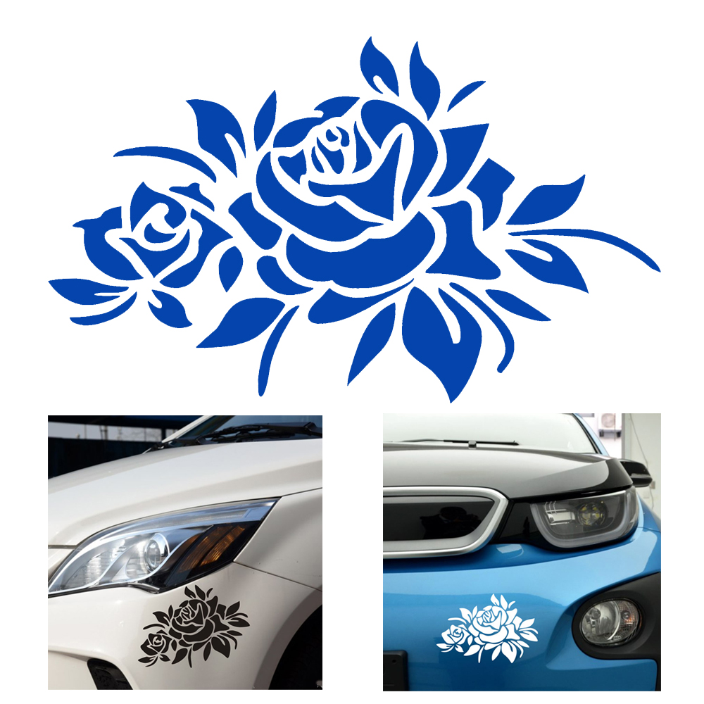 Car Stickers Decals 4 Color Car Body Decor Universal Exterior Accessories Auto Motorcycle Sticker Car Styling Flower car body sticker for cars for fiat 500 dynamic grid waist custom car stickers and decals car styling auto accessories 2pcs