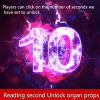 9527 escape room props Time limit organ Players can click on the number of seconds we have set to unlock escape room game