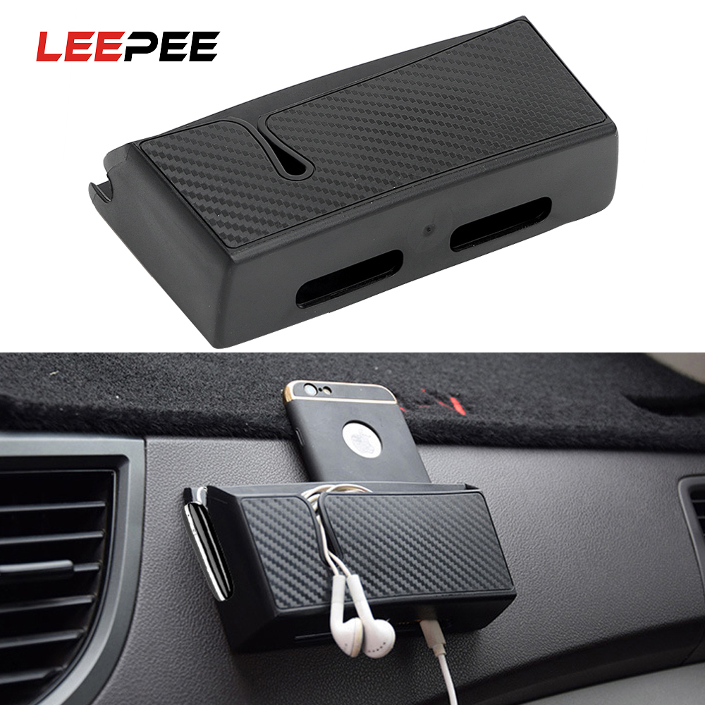 LEEPEE Stowing Tidying Car Organizer Container Phone Holder Stand Car Storage Box For Phone Charge Keys Coins Auto Seat Bag
