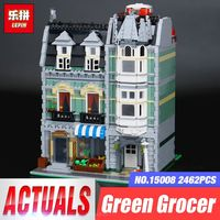 Lepin 2462Pcs City Street Green Grocer Model Building Kits Blocks Bricks Compatible Educational Toys 10185 Children