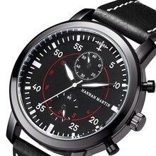 2be52d057da Tênis de corrida Dos Homens Do Esporte Relógio de Luxo Da Marca do Homem  relógio de Quartzo Relógio de Pulso de Couro Relógio Ta.