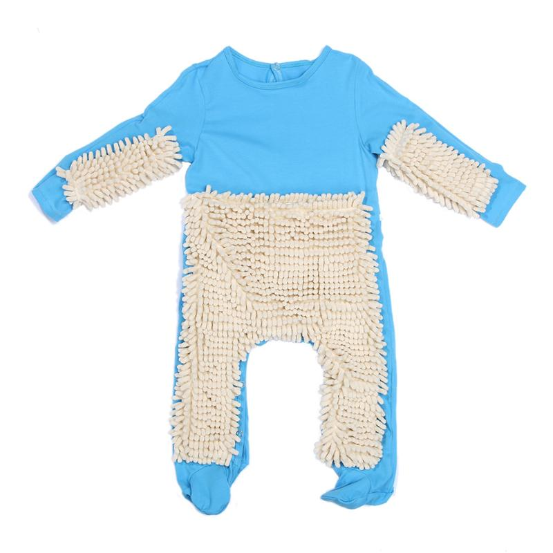 Baby Kids Mop One Piece Romper Clothes Toddler Baby Boys Girls Fashion Crawling Jumpsuit Playsuit Autumn Children Clothing Suits toddler baby girls romper jumpsuit playsuit infant headband clothes outfits set sleeve clothing children autumn summer