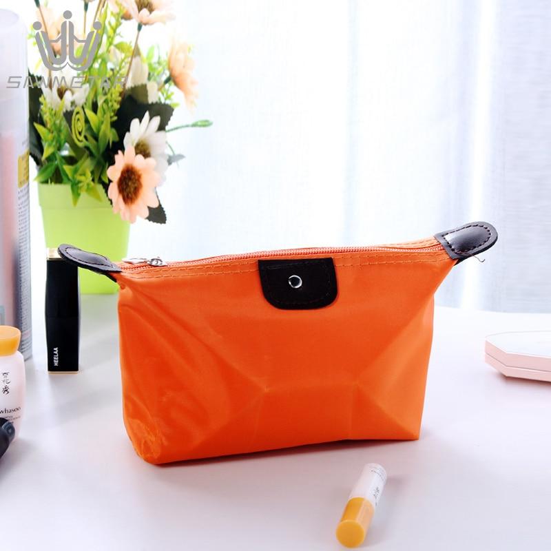 Image 5 - 10 Colors in 1 Set Women Travel Cosmetic Bag Bath Organizer Makeup Bags Handbag Portable Cases Female Zipper Pouch Storage BagCosmetic Bags & Cases   -