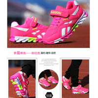 qloblo Girls Breathable Jogging Children Shoes Boys Sports Shoes Fashion Sneakers Running Brand Outdoor Trainers Kids Sneakers