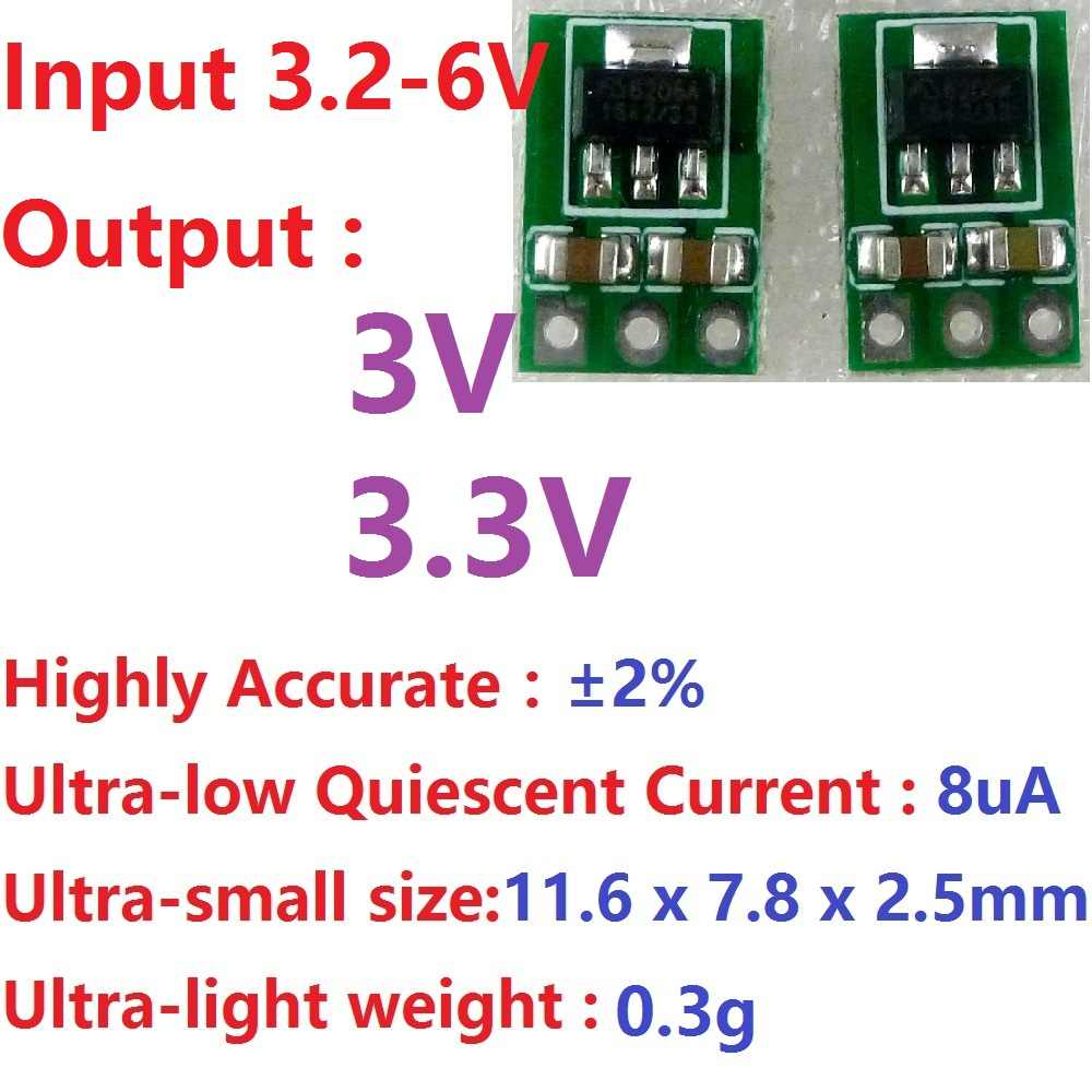 2x 3.3-6V Naar 3V 3.3V DC-DC Converter Step-Down Voeding Buck Ldo Module voltage Regulator Boord