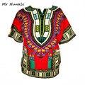 (10 unids/lote envío rápido) 100% algodón Africano Impresión Tranditional Vestido Ropa Mujer Hombre Dashiki Africano Dashiki