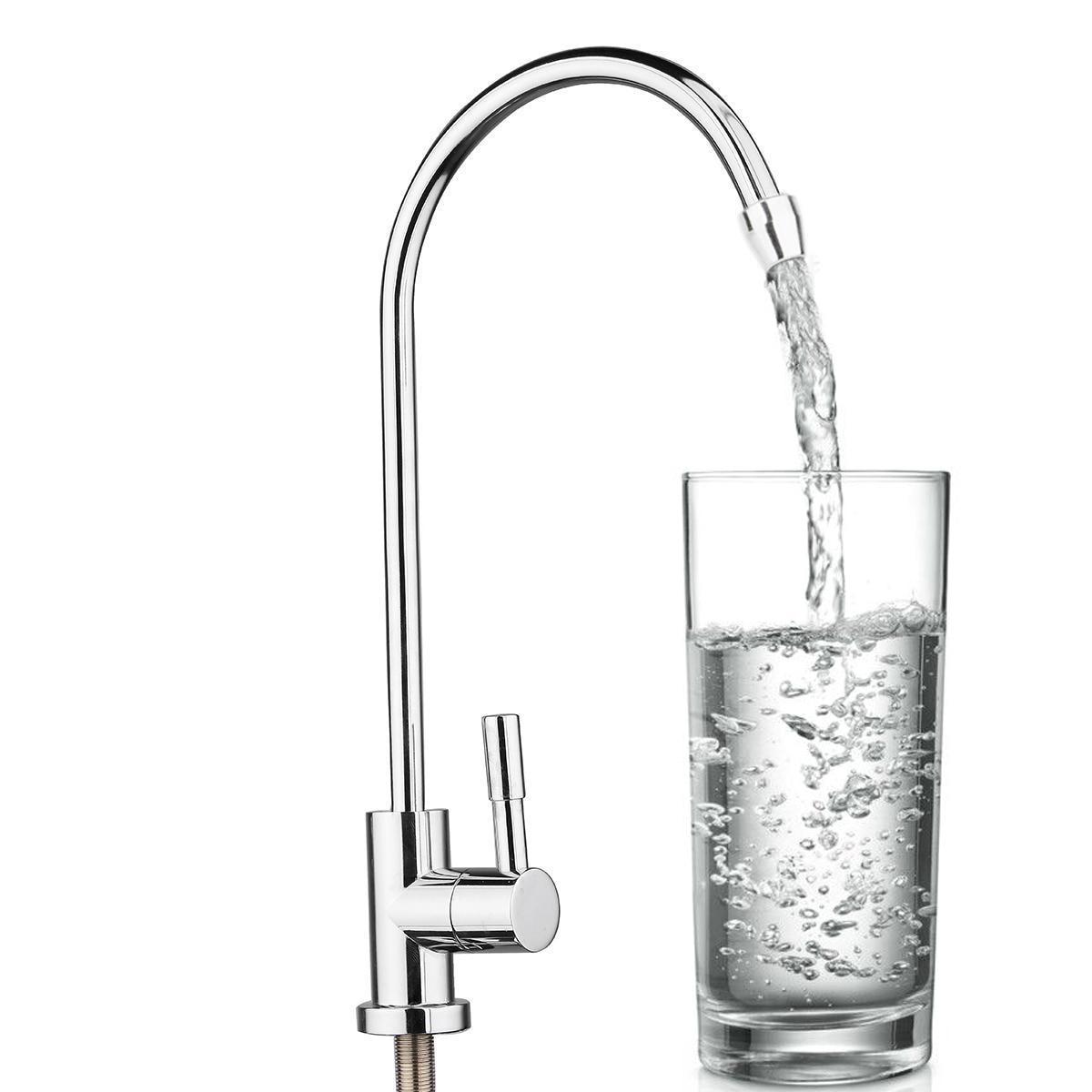 1 шт. 304 Нержавеющаясталь фильтр для воды кран 1/4 360 градусов Chrome осмоса питьевой ro отделка обратный смесители раковины