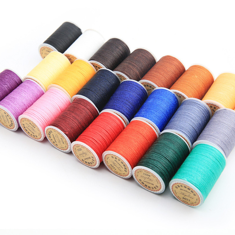 0.65mm 78m Long Round Polyester Fibre Waxed Thread For Leather Sewing