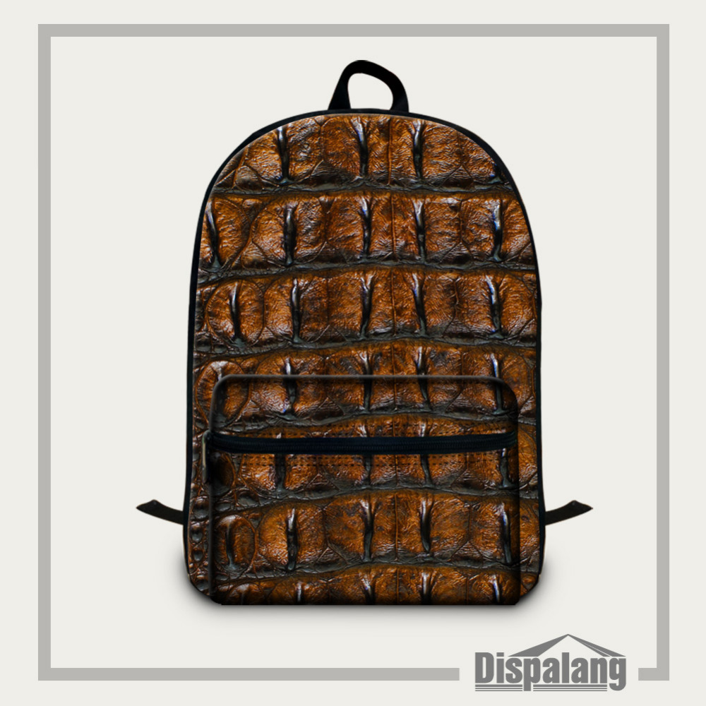 Dispalang Snakeskin Pattern Men Male Backpack College Student School Bags for Teenagers Mochila Casual Rucksack Travel Daypack dispalang brand laptop backpack flamingo pattern multifunction rucksack men casual daypacks unisex school bookbags bagpacks pack