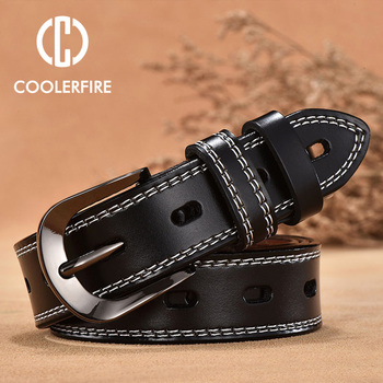 COOLERFIRE Vintage Style Genuine Leather Belts 1
