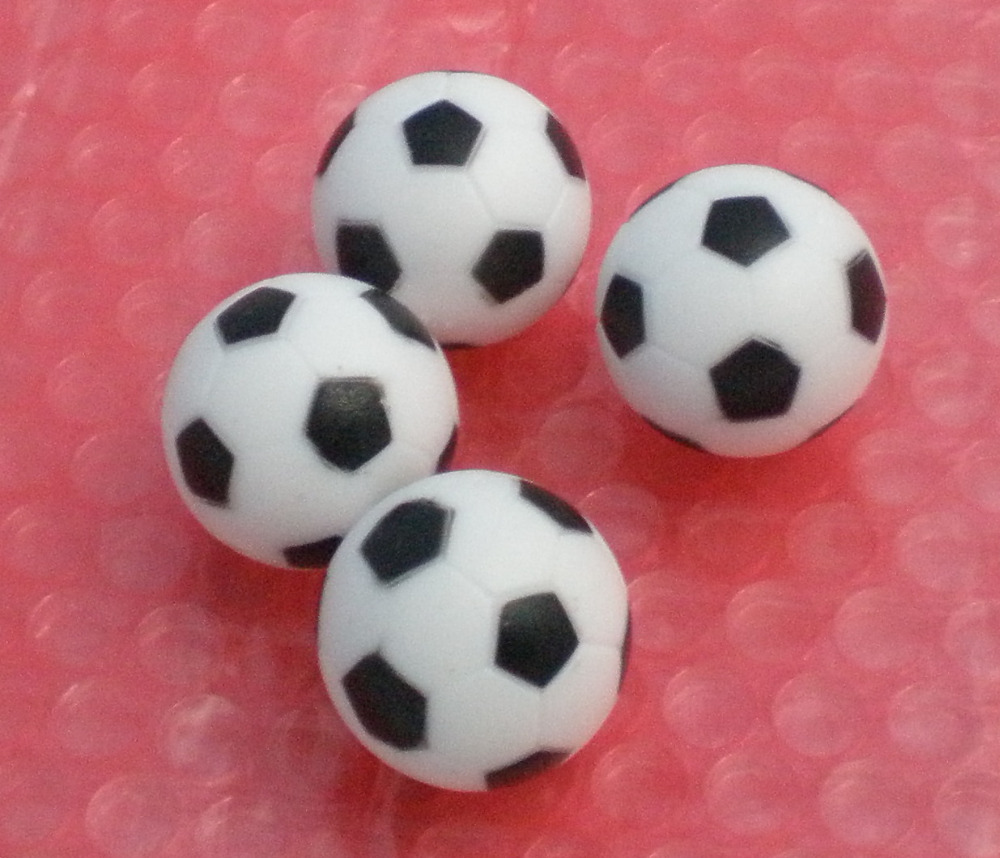 Free Shipping 4pcs/lot NEW 36mm BLACK&WHITE Foosball Table Soccer Table Ball Football Balls Baby Foot Fussball 03
