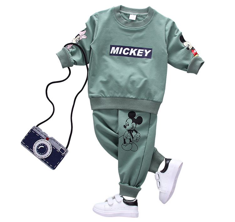 HTB1jDqPX5LxK1Rjy0Ffq6zYdVXai - Disney Mickey Boy Clothes Cartoon Bear Long Sleeved T-shirt Tops Pants Baby Girl Outfits Infant Clothing Kids Bebes Jogging Suit