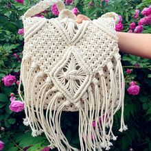 2017 Women Crochet Fringed Messenger Bags Tassels Cross Bag Beach Bohemian Tassel Shoulder Bag
