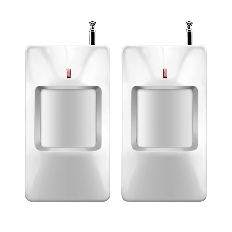 Wireless Common Passive IR PIR Motion Detector Sensor Wide Angel w External Antenna 433MHz for GSM