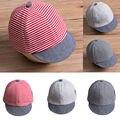 Летняя модная повседневная Милая шапка для новорожденных девочек и мальчиков полосатая Солнцезащитная шапка хлопковый берет головной убо...