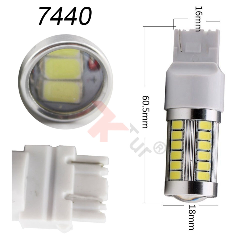 2pcs 7440 7440NA 7441 992 5630 33-SMD Azul 900 Lumens LED Turn Tail - Faróis do carro - Foto 4
