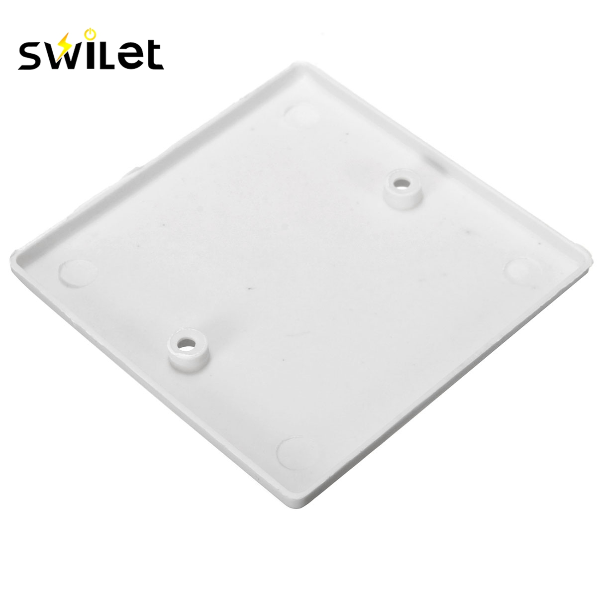 SWILET White Plug Electric Mains Spare Wall Switch Socket Single Blanking Plate Cover Electrical Socket Accessories ...