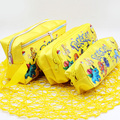 New Anime Yellow Pokemon Pikachu Play Pencil Bag Cosmetic Storage Case Wallet Bag 21.5x12x7cm