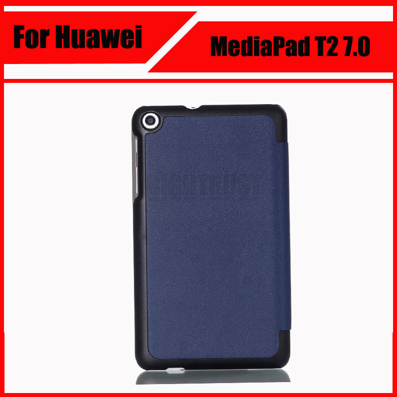 3 in 1 Case Cover For Huawei MediaPad T2 7.0 Protective cover Pu Leather Tablet For HUAWEI BGO-DL09 BGO-L03 PU Protector + Gift
